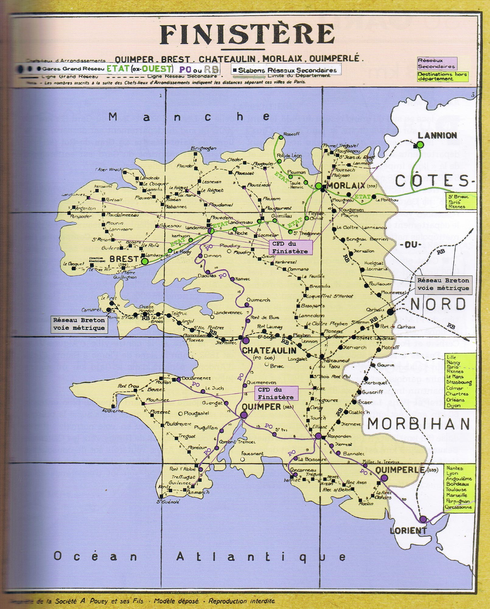 Les lignes de train ont été énormément supprimées ces dernières années, comme dans le Finistère.
