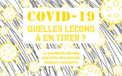 Covid-19 : quelles leçons à en tirer ? (3e partie)