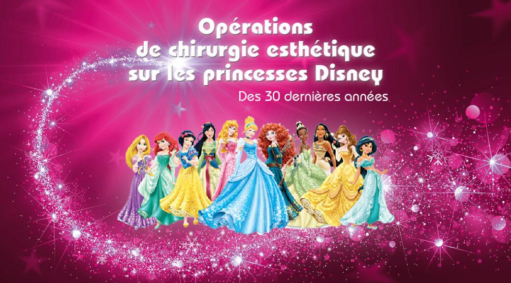 Énormes coups de bistouri chez les princesses Disney