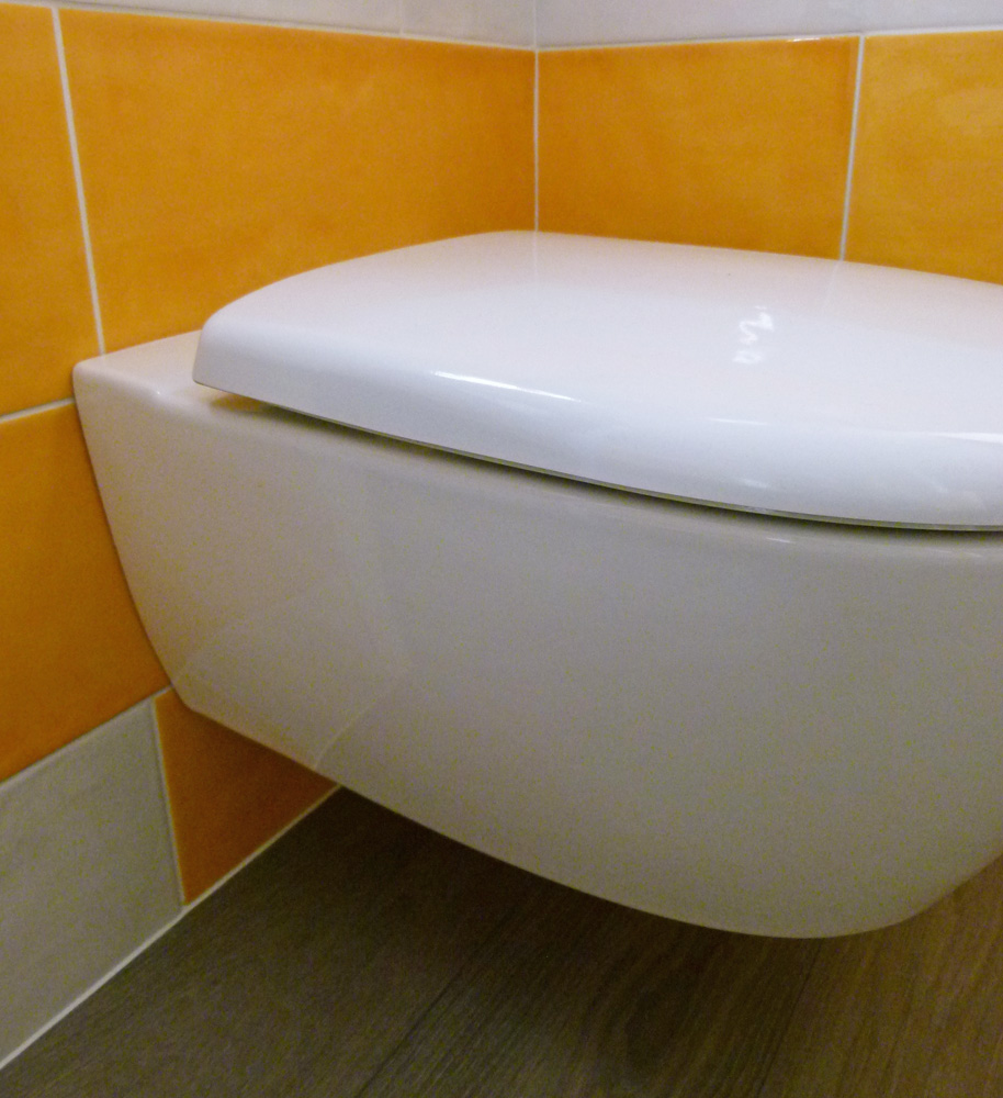 Changer abattant toilettes suspendues
