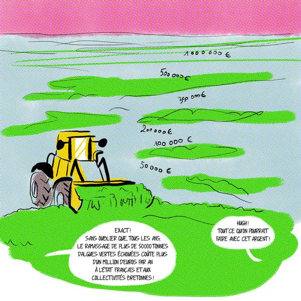 Le coût finanicer des algues vertes.
