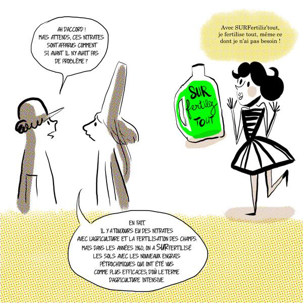 La sufertilisation des sols est une cause des marées vertes.