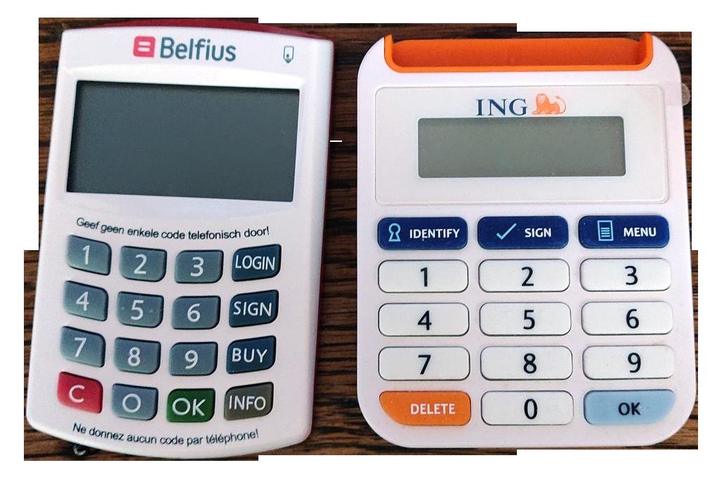 Boitier de connexion fournis gratuitement par les banques belges.
